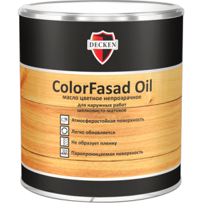 Цветное масло ColorFasad Oil в Самаре.
